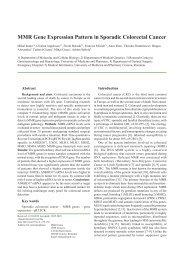 MMR Gene Expression Pattern in Sporadic Colorectal Cancer