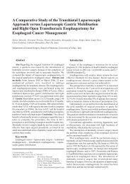 A Comparative Study of the Transhiatal Laparoscopic ... - rjge.ro