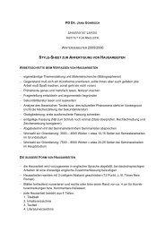 Style-Sheet zur Anfertigung von Hausarbeiten - Prof. Dr. Jana ...