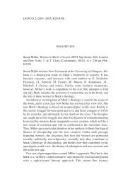 Susan Miller, Women in Mark's Gospel - Journal of Greco-Roman ...