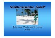 """Schülerreisebüro """"Soleil"""" - Ganztagsschule"""