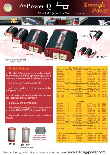 Pure Sine Wave Inverters - Sterling Power Products