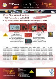 Product Information - Sterling Power Products