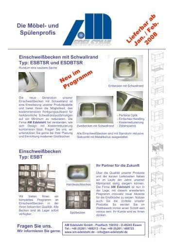 Angebot AM Edelstahl 2008
