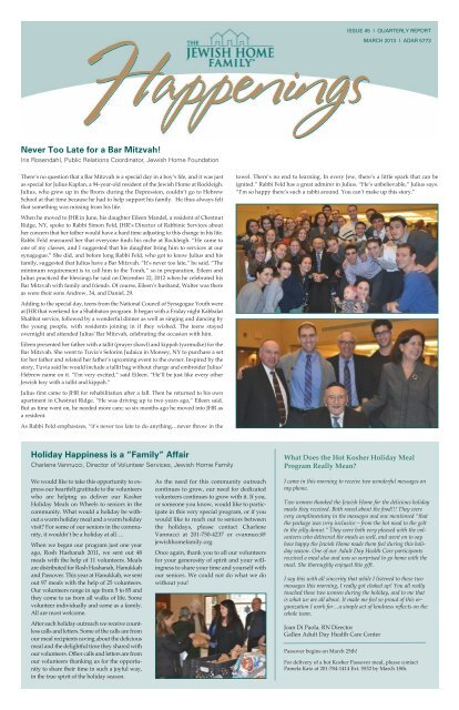 March 2013 (PDF) - Jewish Home Assisted Living