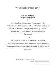 EOI No-DST(R)-1 - Jharkhand