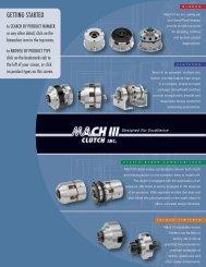 The Mach III Clutch 2008 Product Brochure - JH Bennett & Company ...