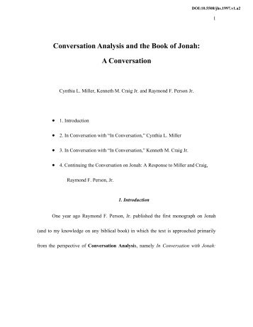 an analysis of the book of jonah Composition and paronomasia in the book of jonah  more objectively from a structural analysis of the book 3  the book opens with yhwh's command to jonah.