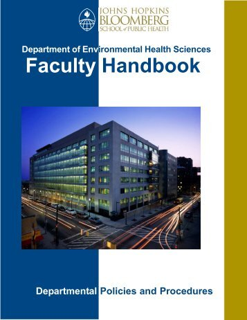 Faculty Handbook - Johns Hopkins Bloomberg School of Public Health