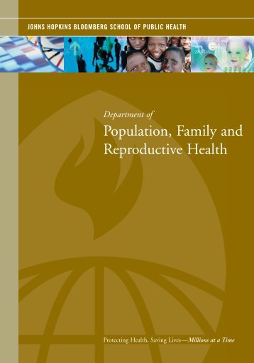 Population, Family and Reproductive Health - Johns Hopkins ...
