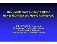RECOVERY from SCHIZOPHRENIA How is it Defined and How is i