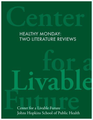 healthy monday: two literature reviews - Johns Hopkins Bloomberg ...