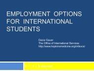 Navigating the U.S. Job Market as an International Student Workshop