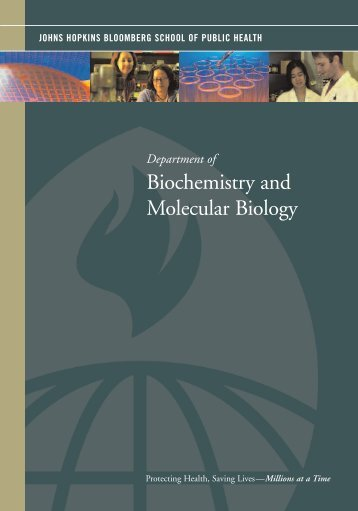 Biochemistry and Molecular Biology - Johns Hopkins Bloomberg ...