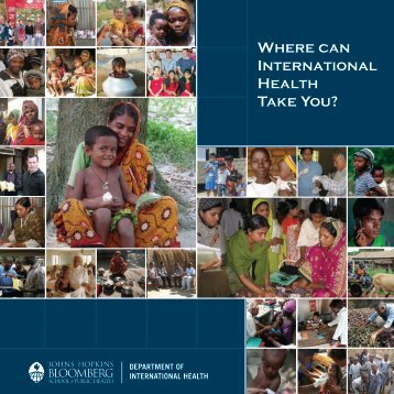 Where can International Health Take You? - Johns Hopkins ...