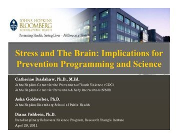 Stress and the Brain - Johns Hopkins Bloomberg School of Public ...