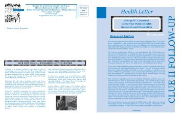 2007 Health Letter - Johns Hopkins Bloomberg School of Public ...