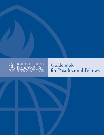 JHSPH Postdoctoral Fellows Guidebook - Johns Hopkins ...