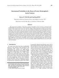 Interannual Variability in the Decay of Lower Stratospheric Arctic ...