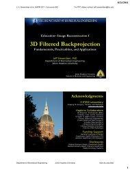 3D Filtered Backprojection - Johns Hopkins University