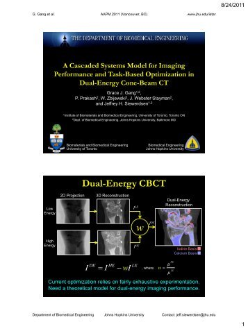 Dual-Energy CBCT - Johns Hopkins University