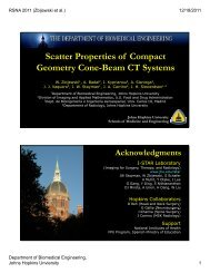 Scatter Properties of Compact Geometry Cone-Beam CT Systems