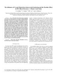 The Influence of Crystal Material on Intercrystal Scattering ... - Springer