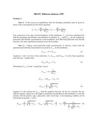 Midterm exam solutions 1999