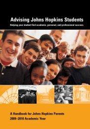 Advising Johns Hopkins Students - Johns Hopkins University