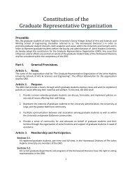 Constitution of the Graduate Representative Organization