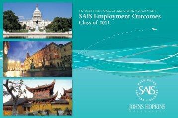SAIS Employment Outcomes - Bologna Center