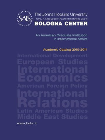 Download the 2010-2011 Catalog [PDF; 9 mb] - Bologna Center