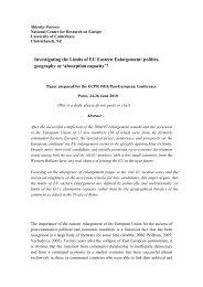 Investigating the Limits of EU Eastern Enlargement: politics ...