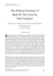 The Political Economy of Basle II: The Costs for Poor Countries