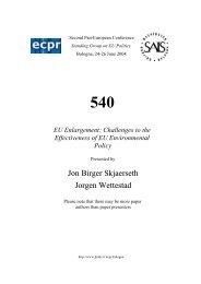 Jon Birger Skjaerseth Jorgen Wettestad - Bologna Center