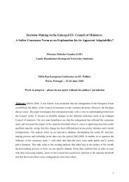 Decision-Making in the Enlarged EU Council of Ministers: A Softer ...