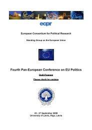 Fourth Pan-European Conference on EU Politics - Bologna Center
