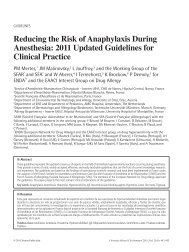 Reducing the Risk of Anaphylaxis During Anesthesia: 2011 Updated ...