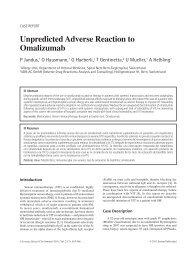 Unpredicted Adverse Reaction to Omalizumab