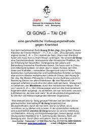QI GONG – TAI CHI - Jians Institut