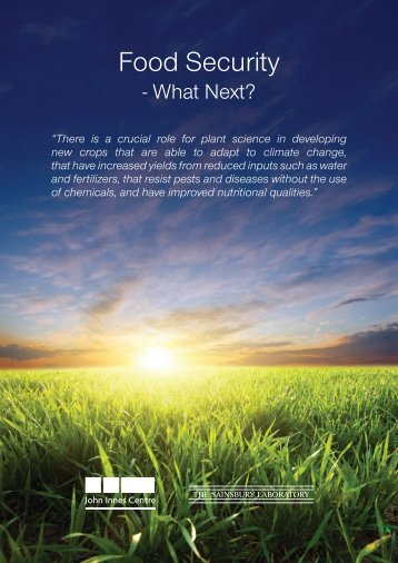 """Food Security - What Next?"" brochure - John Innes Centre"