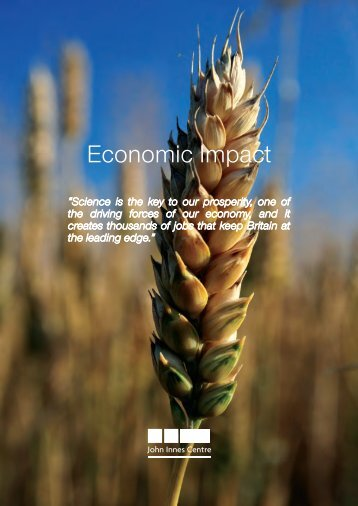 Economic Impact brochure - John Innes Centre