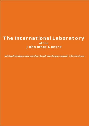 The International Laboratory - The John Innes Centre