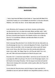 """Predigt in Schwarzach und Söllingen am 14./15. Juli ...""""und er legte ..."""