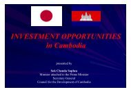 INVESTMENT OPPORTUNITIES in Cambodia - JICA