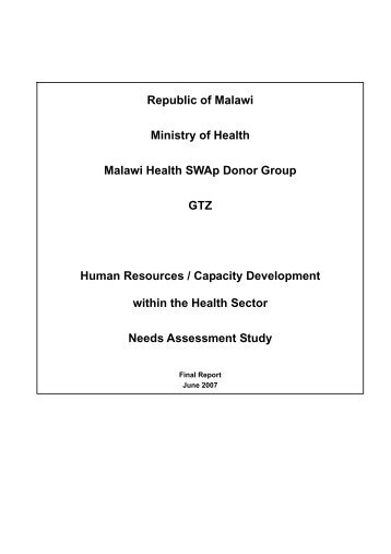 Human Resources/Capacity Development within the Health ... - JICA