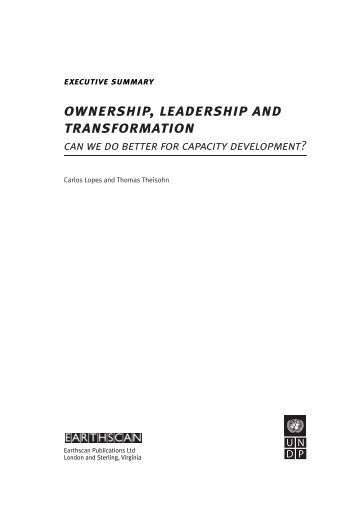 Ownership, leadership, and transformation : can we do ... - SARPN