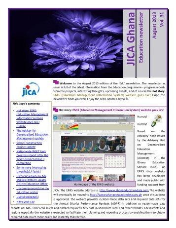 Vol.31 August 2013 (PDF/1.07MB) - JICA