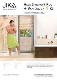akce sprchový kout + vanička za 1 kč - Jika