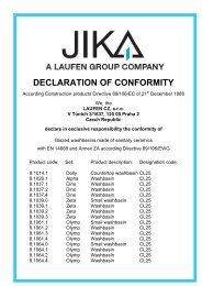 DECLARATION OF CONFORMITY - Jika